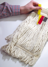 24oz (675grm) Colour coded stayflat looped mop